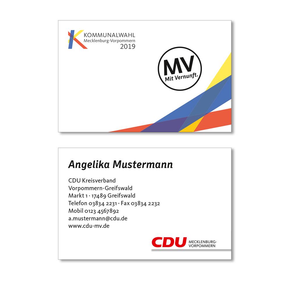 Cdu Kommunalwahlshop Mv Visitenkarten 4 4 Farbig
